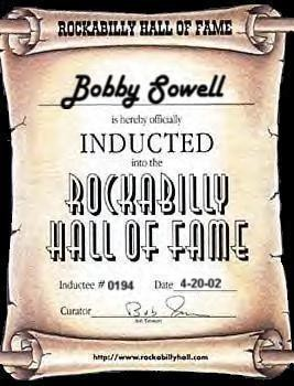 BOBBY SOWELL - Rockabilly Hall of Fame Inductee
